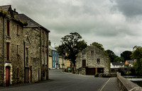 Ramelton village and bridge old stone buildings