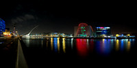 River Liffey Panoramic of Samuel Beckett Bridge & National conference Center