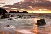 Kilfarassy beach Waterford Ireland at sunrise