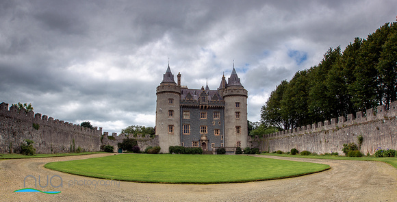 The inner grounds of Killyleagh Castle