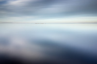 Lough Neagh reflecting clouds on water