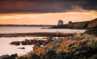 Martello tower Sutton at sunset